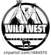 Poster, Art Print Of Black And White Western Design