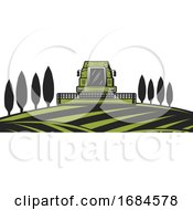 Poster, Art Print Of Tractor On A Farm