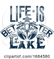 10/19/2019 - Navy Blue Life Is Better At The Lake Design