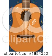 Poster, Art Print Of Guitar And Music Notes