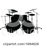 Drum Kit Musical Instrument Silhouette