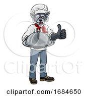Wolf Chef Mascot Cartoon Character