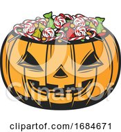 Halloween Jackolantern With Candy