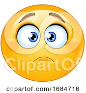 Poster, Art Print Of Yellow Smiley Emoji Frowning