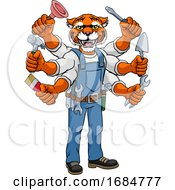 Tiger Multitasking Handyman Holding Tools