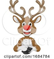 Santas Christmas Reindeer Cartoon Character