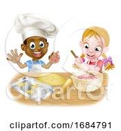 Poster, Art Print Of Cartoon Child Chefs