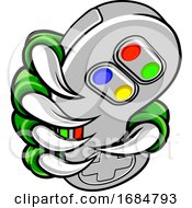 Poster, Art Print Of Gamer Claw Video Game Controller Monster Hand