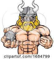 Viking Golf Sports Mascot