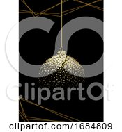 Gold And Black Christmas Background