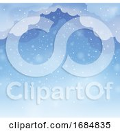 Background Of Clouds And Snow