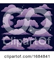Clouds And A Starry Sky