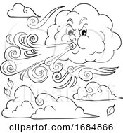 Cloud Blowing A Wind Storm