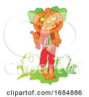 Poster, Art Print Of Pumpkin Zombie