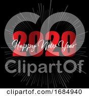 Happy New Year Starburst Background