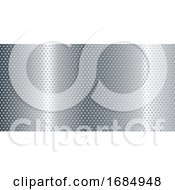 Perforated Metallic Banner Background