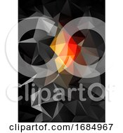 Black And Orange Low Poly Abstract Design