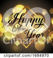 Golden Happy New Year Design