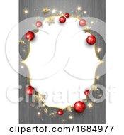 Gray Wood Grain And Christmas Frame