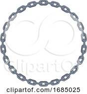Round Nautical Chain Border Frame