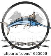 Marlin Fish Ships And Poles