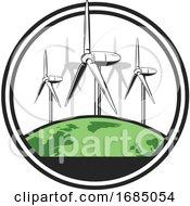 Green Earth And Wind Turbines