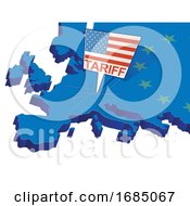 Poster, Art Print Of United States Tariffs On Europe As Protectionist Trade
