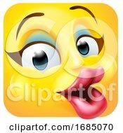 Flirty Female Square Emoticon