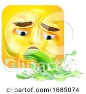Puking Square Emoticon
