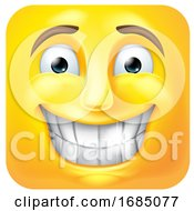 Poster, Art Print Of Square Emoticon Grinning