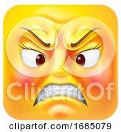 Mad Female Square Emoticon