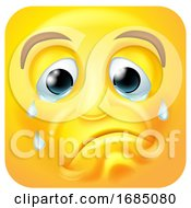 Crying Square Emoticon