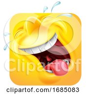 Poster, Art Print Of Square Emoticon Laughing And Crying