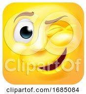 Winking Square Emoticon