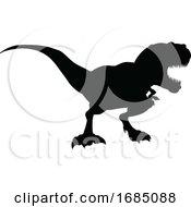 Poster, Art Print Of Trex Dinosaur Silhouette