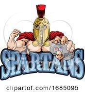 Spartan Trojan Gamer Gladiator Controller Mascot
