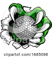 Poster, Art Print Of Golf Ball Claw Monster Sports Hand