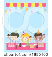 Kids Ice Cream Party Background Illustration
