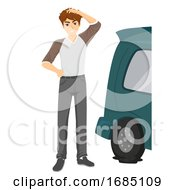 Teen Guy Basic Tire Replacement Illustration
