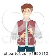 Teen Boy Anxious Illustration