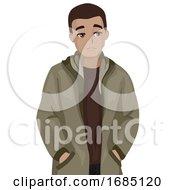 Poster, Art Print Of Teen Boy Self Critical Illustration