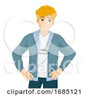 Poster, Art Print Of Teen Boy Smug Illustration