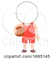 Kids Basketball Sport Head Illustration