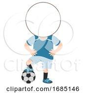 Kids Football Sport Head Illustration