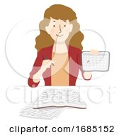 Teen Girl Study Planner Illustration