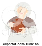 Poster, Art Print Of Woman Lady Servant Medieval Illustration