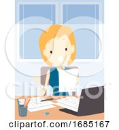 Teen Girl Read Out Loud Study Hack Illustration