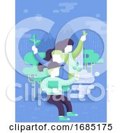 Poster, Art Print Of Youth Nature Lover Illustration