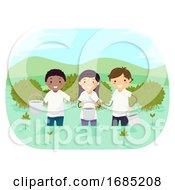 Stickman Teens Plant Mangroves Illustration