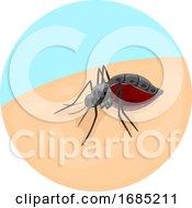 Mosquito Parasitism Illustration